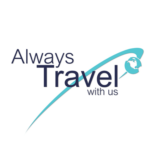 Always Travel With Us / logo designed by Jacob Rousseau