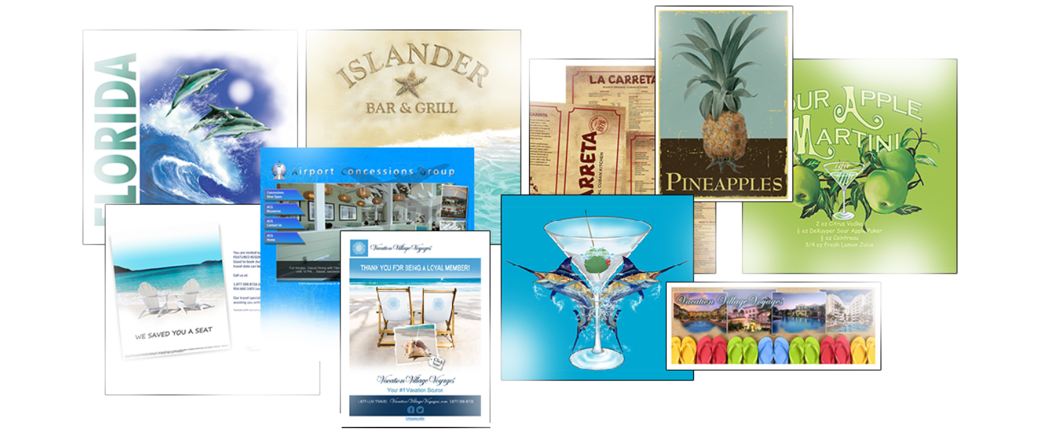 Rousseau Graphics / Islander Bar & Grill