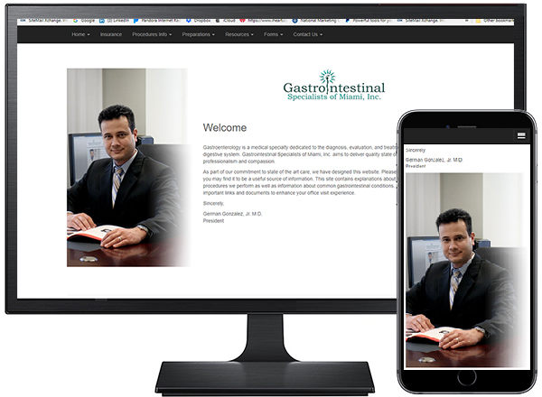 GastroIntestinal Specialists of Miami, Inc. / site designed by Jacob Rousseau