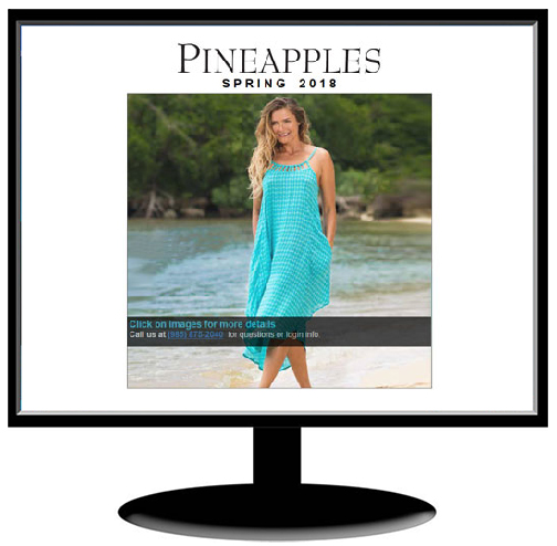 Pineapples Resort Wear / site by Jacob Rousseau